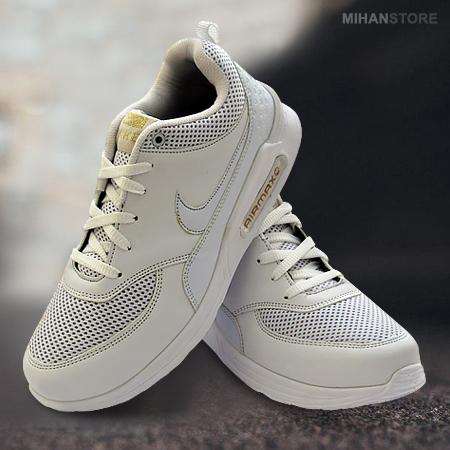 کفش زیباوبادوام مردانه نایک مدل Airmax (سفید)