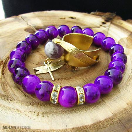 خرید ویژه ست  زیبای دستبند و انگشتر Violet